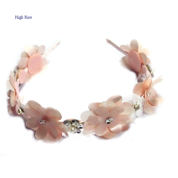 Crystal Flower And Satin Flower Alice Band