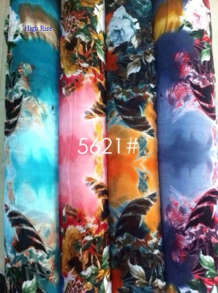Dyeing Floral Pattern Fabric