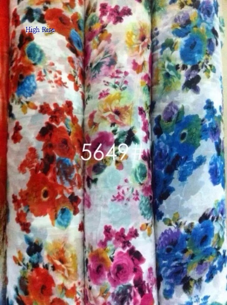 Dyeing Flower Pattern Fabric