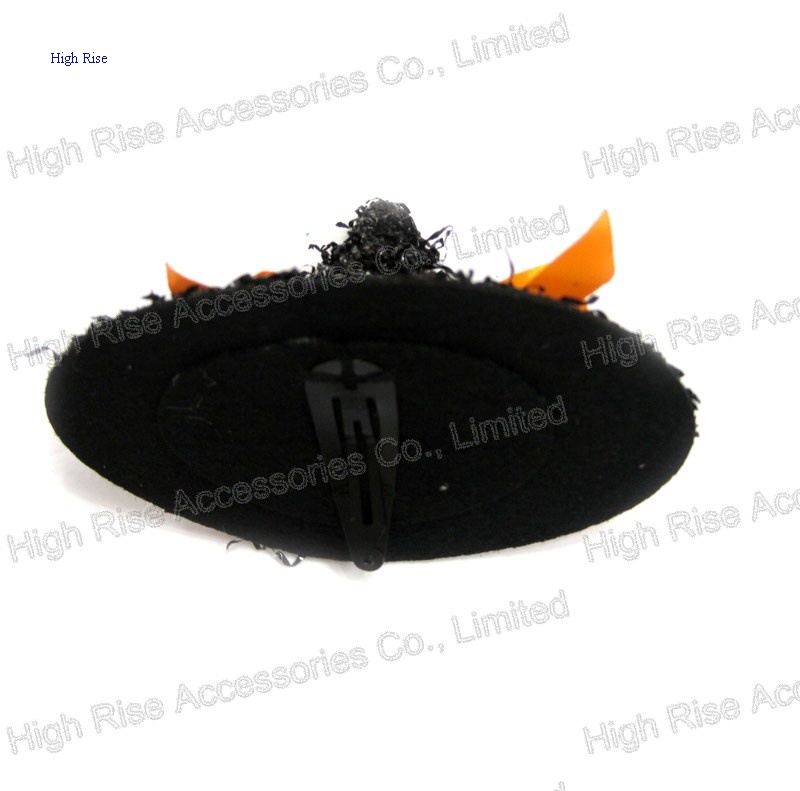 Black Halloween Witch Hat Hair Clip Party Hair Clip