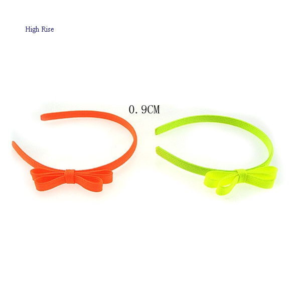 Fuorescence Color Shoe Cord Bow Alice Band