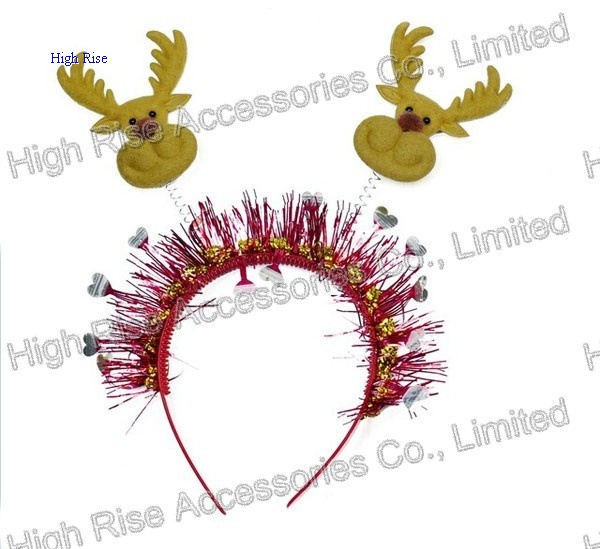 Christmas Reindeer Head Headband, Party Headband