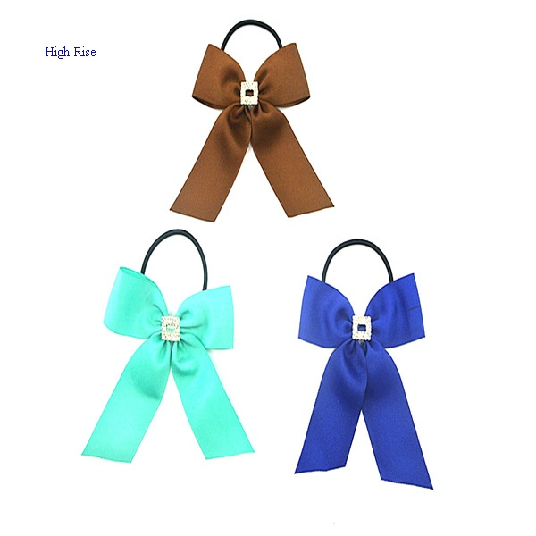 Large Bow Elastic Ponytail Holder