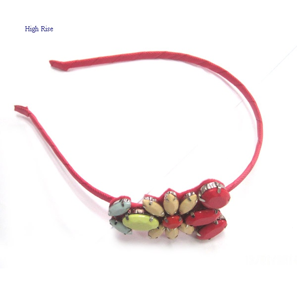 Colored Stone Flower Alice Band