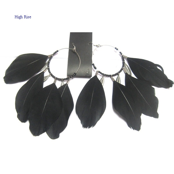 Black Loop Earring