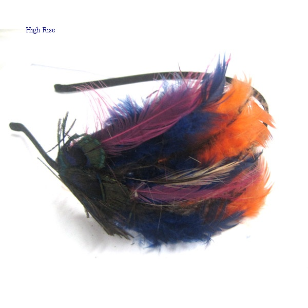 Colored Feather Fascinator