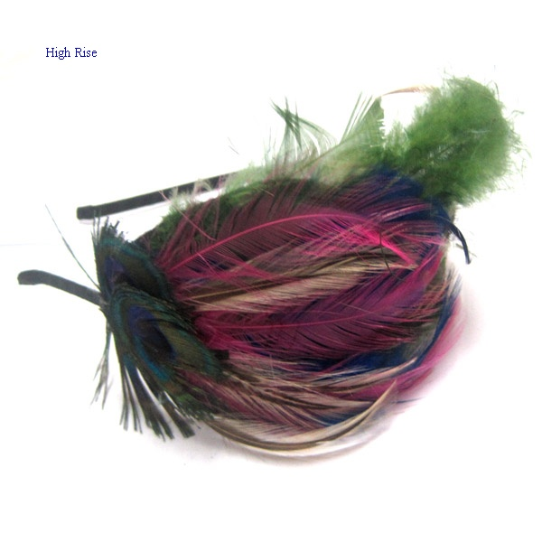 Colorful Feathers Alice Band