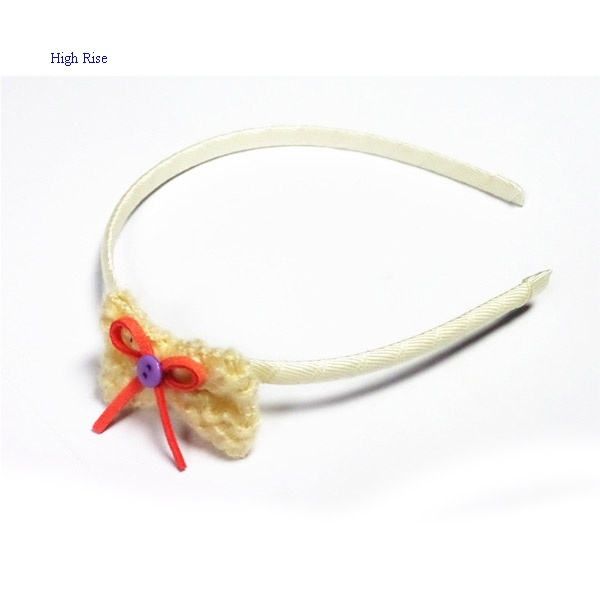 Small Crocheted Bow Alice Band