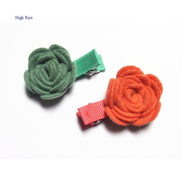 Cute Rose Hair Clip Duck Clip