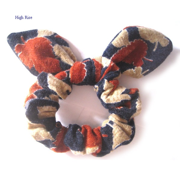 Leafage Pattern Scrunchies For Autunm/Winter