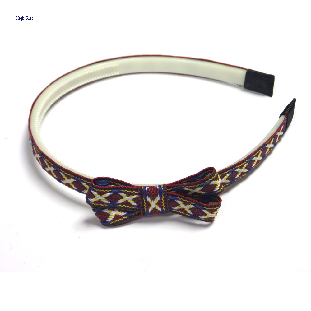 Antique Cross pattern Woven Bow Alice Band Headband