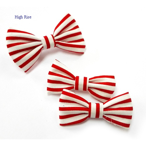 White And Red Stripes Hair Clip Alligator Clip Side Clip