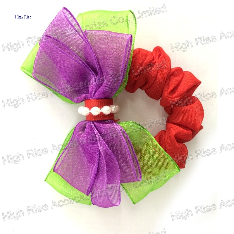 Double Tulle Bows Scrunchies
