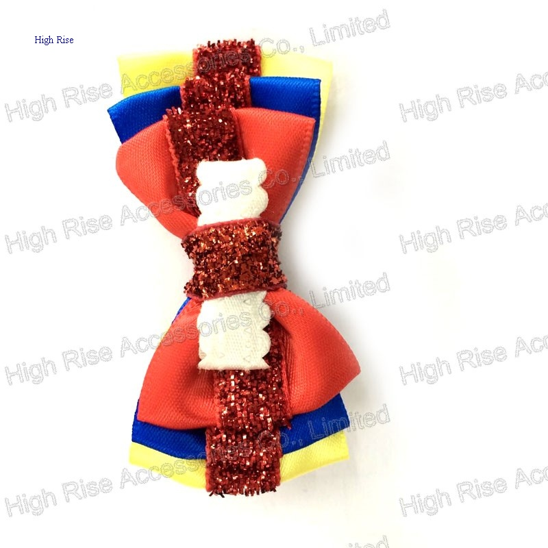 Three Colored Layer Bow Hair Clip