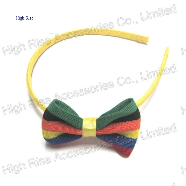 Stripe Bow Alice Band, Flag Color bow Headband,