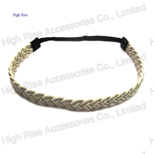 Elastic and Chains Braided Headband