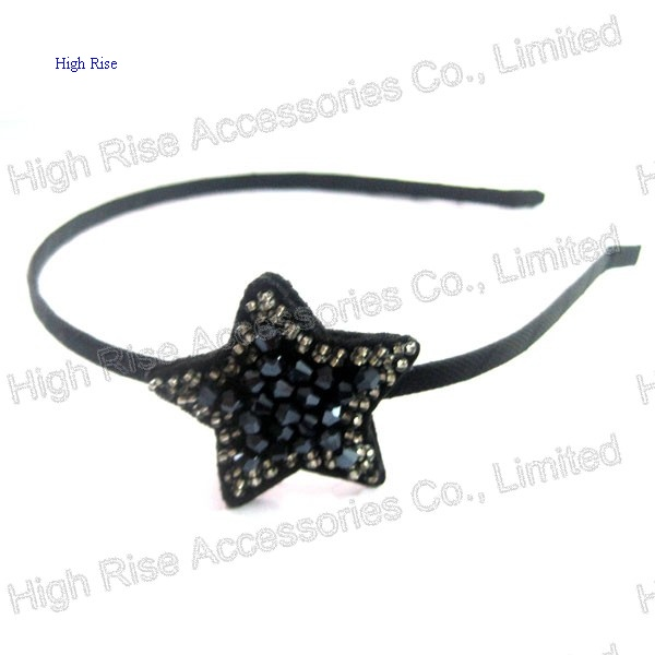Crystal And Beads Stars Charm Alice Band, Party Headband