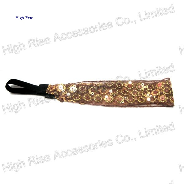 Sequin Flower Mesh Lace Headband