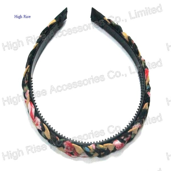 Floral Fabric Braided Alice Band