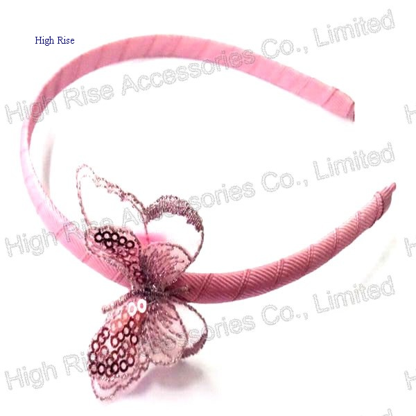 Sequin Nylon Butterfly Alice Band