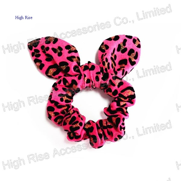 Animal Pattern Glitter Dots Ear Scrunchie