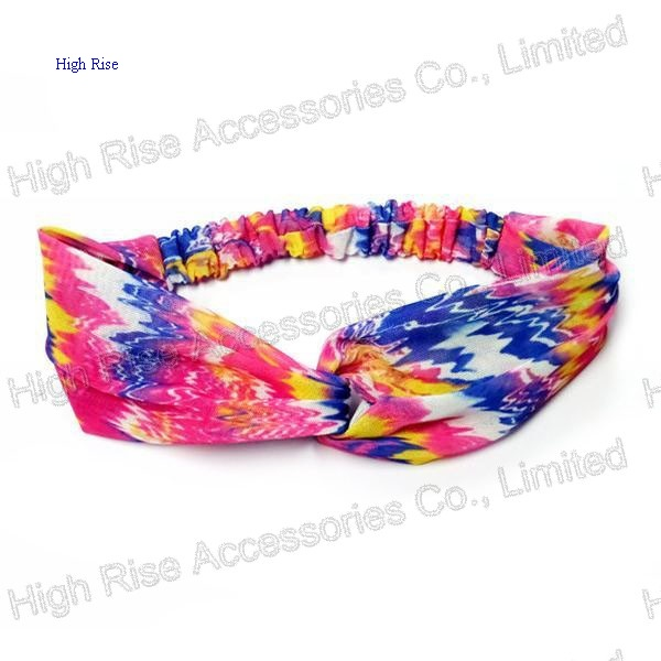 Neon Knotted Wide Headband