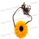Sunflower Braided Band With Tail