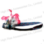 Feather Flower Ethnic Woven Pattern Elastic Headband