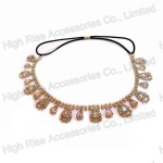 Drop Crystal Charm Elastic Headband/ Frontlet