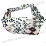 Colored Rhombus Checks Pattern Headband
