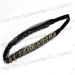 Beaded Flower Lace Elastic Headband