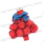 Christmas Red Pom Pom Balls Hair Clip, Party Hair Clip