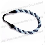 Floral Pattern Two colors Jeans Strands Elastic Headband