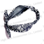 Floral Pattern Jeans Headband With Bow