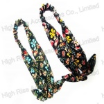 Colorful Flowers Pattern Headband With Bow