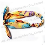 Floral Pattern Headband With Bow