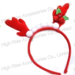Christmas Reindeer Antlers and Pom Pom Headband Party Headband
