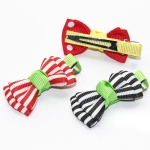 Stripes Grosgrain Bow Hair Clip Duck Clip For Kids