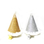 Birthday/Party Glitter Cap With Lace Flower Hair Clip For Kids