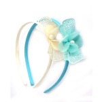 Mesh Bow With Chiffon Bow Alice Band for Kids