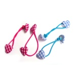 British Style Heart Button Charm Hair Elastic Ponytail Holder