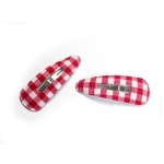 British Style Checked Fabric Hair Clip Snap Clip