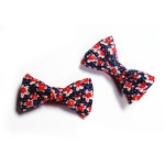 Floral Bow Hair Clips For kids