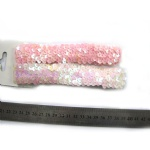 Pink Sequins Elastic Headband For Baby