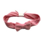 Pink Jersey Bow Elastic Headband For Kids