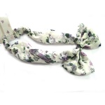 Floral Pattern Bow Headband
