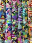 Flowers Strips Pattern Fabric