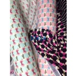 Colorful Bow Pattern Fabric Suit For AW