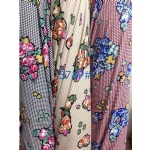 Bouquet Flowers Pattern Fabric Suit For AW