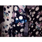 Flowers With Polka Dots Pattern Fabric Suit For AW